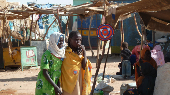 A scene from a displaced persons camp in a northern Darfur city in 2012.