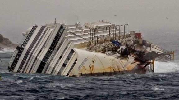 """Dan Rivers: """"Although there is no permanent memorial to the tragedy on Giglio, many islanders are reminded about the disaster every time they look out of their window and see the wreck."""""""
