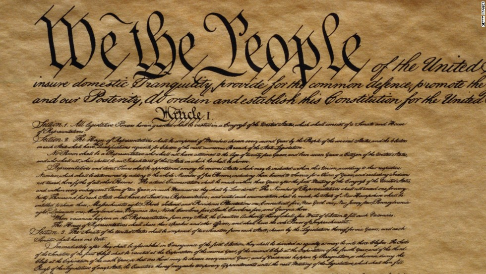 Us Constitution Fast Facts Cnn