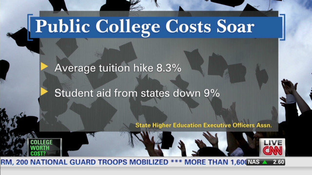 is college worth the cost As college tuition continues to rise, the debate continues  and costs, loans and  scholarships, questioning, is a college degree worth the cost.