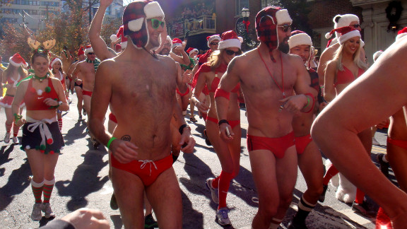 """If you think you'll need more time to train, sign up for Atlanta's annual <a href=""""http://www.atlantasantaspeedorun.org/"""" target=""""_blank"""" target=""""_blank"""">Santa Speedo Run</a> in December. Participants don red speedos (or bikinis) and Santa hats to traverse the 1.5 mile course. Sure it's a bit chilly, but it's worth it to raise money for a worthwhile charity."""