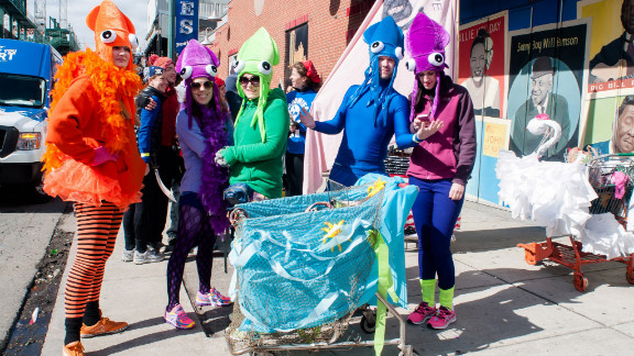 """The <a href=""""http://bostonurbaniditarod.com/"""" target=""""_blank"""" target=""""_blank"""">Boston Urban Iditarod</a> borrows its theme from the famous Alaskan sled dog race. Except in Boston, the dogs are humans and the sled is a shopping cart."""