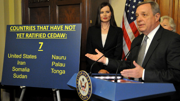 Since Geena Davis and Sen. Dick Durbin made this presentation, Nauru ratified and South Sudan joined those that haven