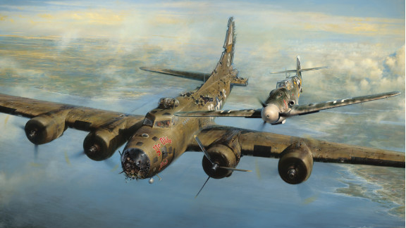 """Five days before Christmas 1943, a helpless American bomber pilot locked eyes with a German fighter pilot over the frozen skies of Europe. The German pilot spared the life of the American, and both men would reunite and become friends 50 years later. Franz Stigler and Charles Brown started the war as enemies, but during a tense wartime encounter, both men discovered a higher call. Click through the gallery to see more examples of military chivalry through the ages.<br /><br />Source: <a href=""""http://valorstudios.com/a-higher-call-book.htm"""" target=""""_blank"""" target=""""_blank"""">""""A Higher Call,"""" by Adam Makos and Larry Alexander</a>"""