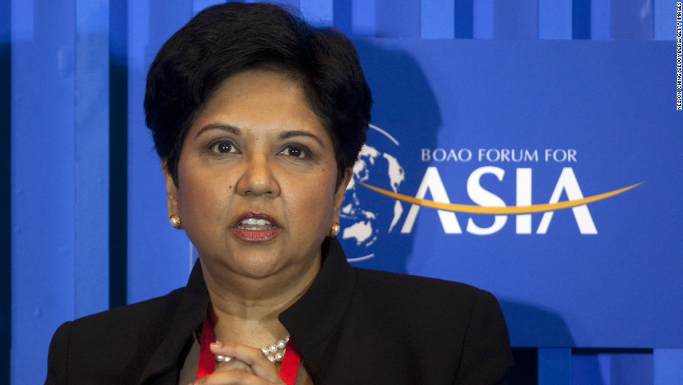 "Indra Nooyi made $14.1 million as chairman and CEO of PepsiCo in 2011.<br /><br />To see more of the highest paid women in business <a href=""http://money.cnn.com/gallery/magazines/fortune/2012/09/27/25-highest-paid-women.fortune/10.html"">check out CNNMoney's list. </a>"