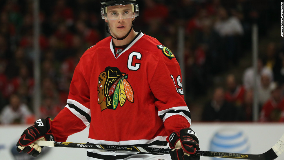 Jonathan Toews is captain of the Chicago Blackhawks.
