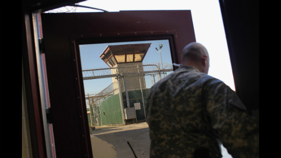 A guard walks out of the maximum-security section of the detention center in September 2010.