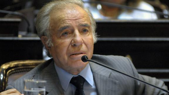 Former Argentine President Carlos Menem says he is innocent.