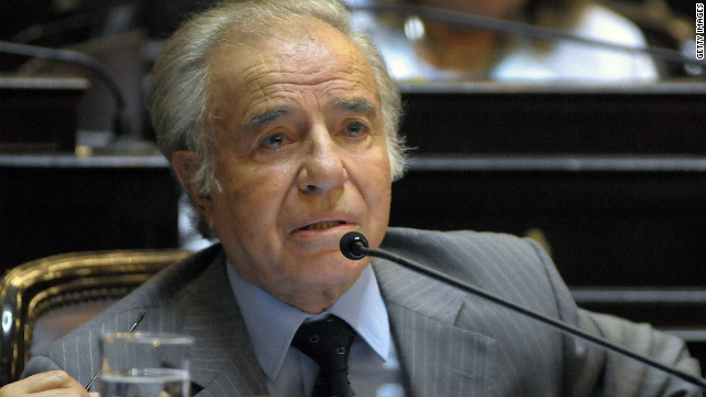 Former Argentine President Carlos Menem says he is innocent.