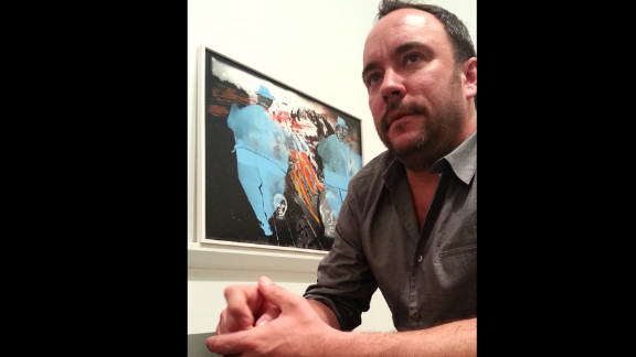 """""""I've never done anything as ambitious as this,"""" singer Dave Matthews says of his artwork being exhibited in a New York gallery."""