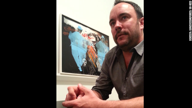 """I've never done anything as ambitious as this,"" singer Dave Matthews says of his artwork being exhibited in a New York gallery."
