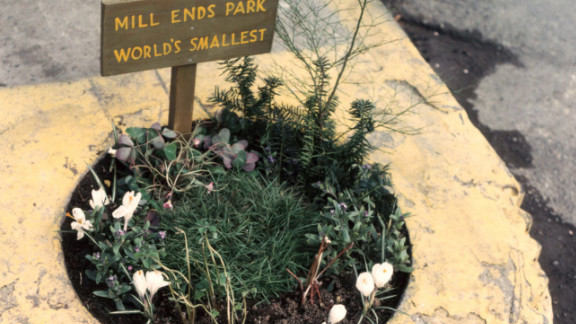 """The Portland Parks and Recreation department took over care and maintenance of Mill Ends park in 1976. The park was dubbed """"World"""