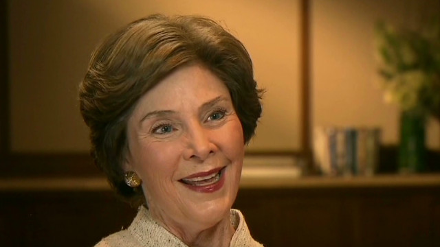 Laura Bush: My girls help others