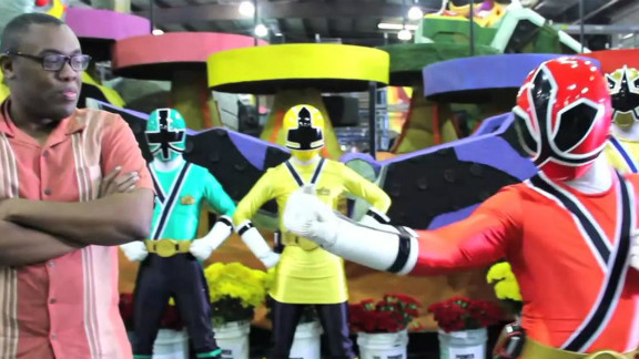 """On YouTube's """"Black Nerd Comedy,"""" Andre Meadows often focuses on '80s and '90s pop culture such as the Power Rangers."""