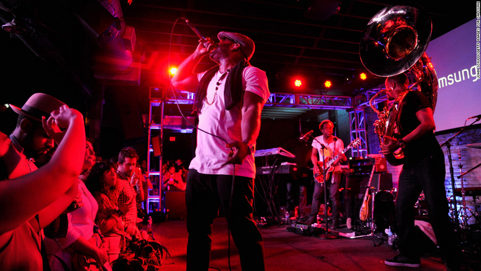 Black Thought and The Roots perform on March 9 during the Samsung Galaxy Sound Stage event.