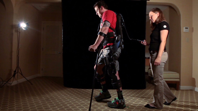 Exoskeleton helps paralyzed walk