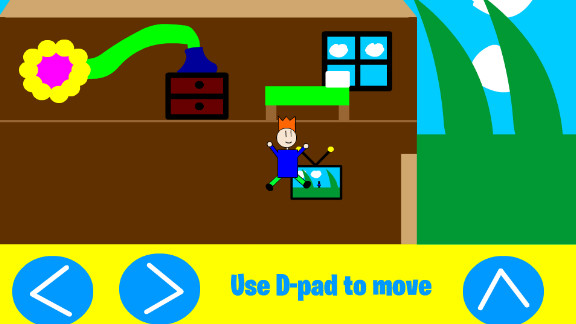 """An image from """"My Little World,"""" the latest game in development from Jordan Casey, a 13-year-old app developer from the Republic of Ireland. Casey released his first game, Alien Ball vs Humans, when he was 12."""