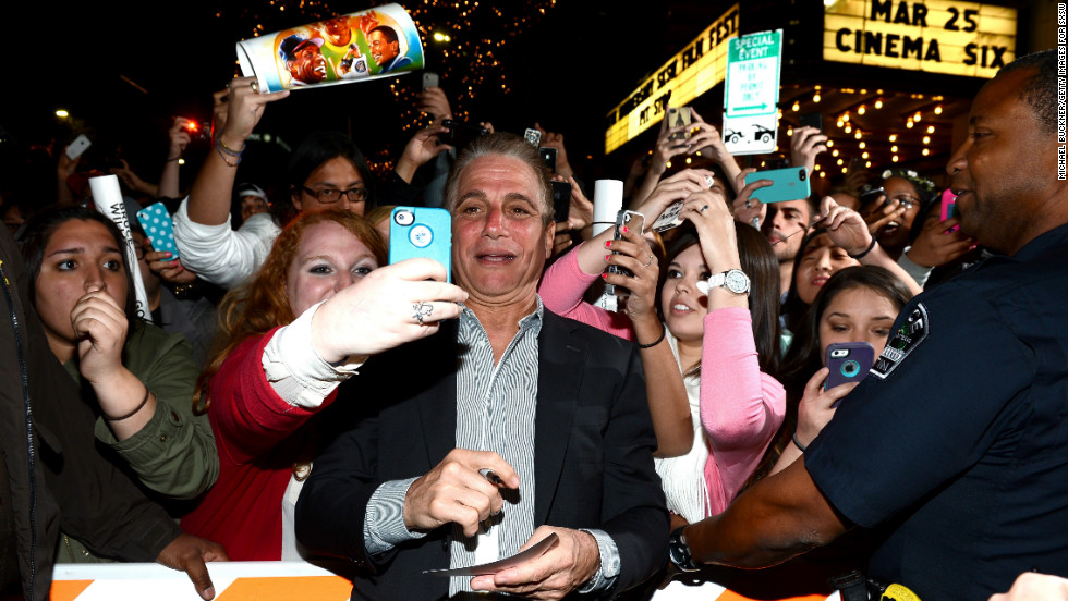 "Actor Tony Danza arrives at the screening of ""Don Jon"" at the Paramount Theatre in Austin on March 11."