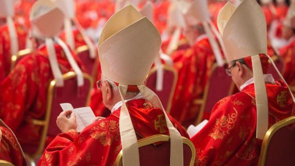 Cardinals attend the religious mass