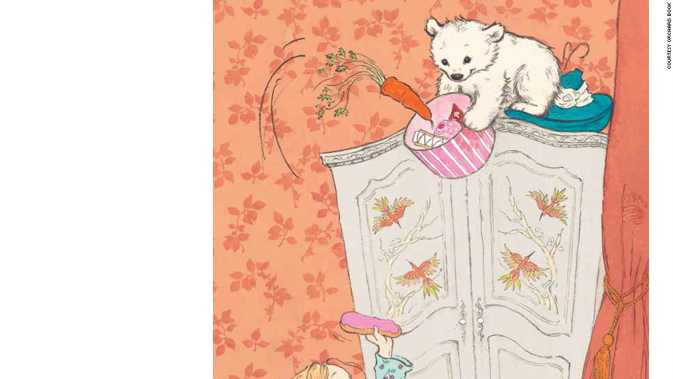 "Vulliamy's story of the ""Bear with Sticky Paws"" begins when a lovable but mischievous bear turns up on Pearl's doorstep. Throughout the day Pearl and the bear have fun but make a mess of the house. That is, until Pearl's mother returns home."