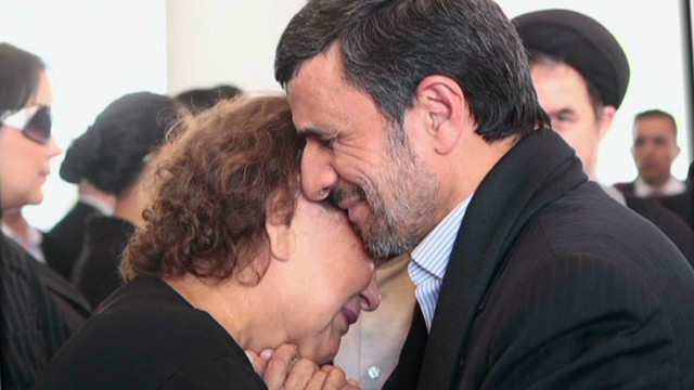 Clerics angry Ahmadinejad hugged woman