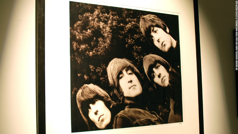 "This photo became the album cover of ""Rubber Soul."" It was groundbreaking because it was their first sleeve to not feature their name. Only two editions of this print were ever made. The one pictured, AP1, is the most expensive print on sale at Snap Galleries in London, priced at $45,000 (£30,000)."