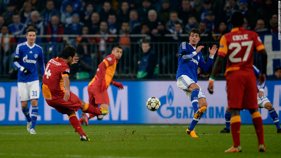 Galatasaray pulled level when former Schalke man Hamit Altintop produced a stunning 25-yard effort to give the Turkish side a crucial away goal.