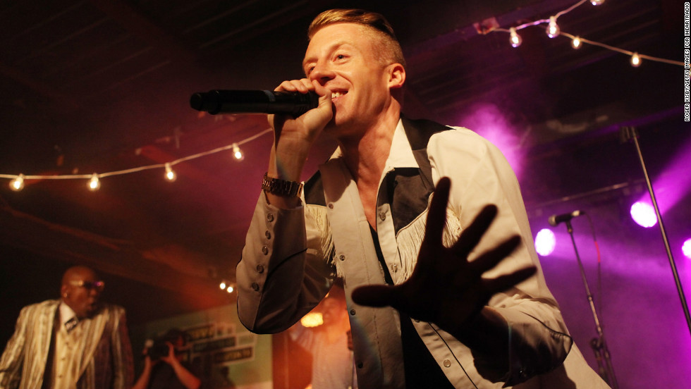 Macklemore performs on March 12.