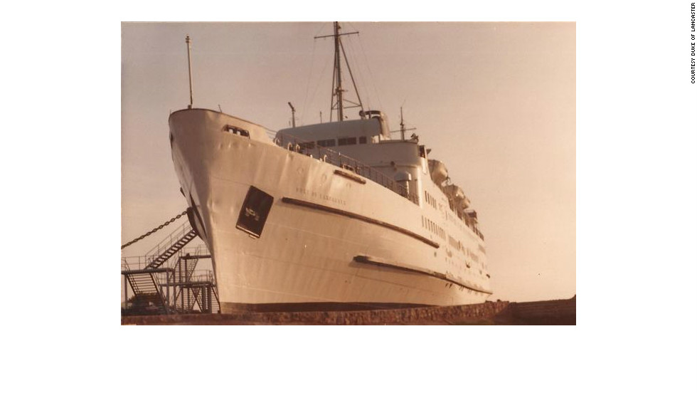 The vessel was converted into a car ferry in 1970. Eight years later she was destined for the scrap yard when four entrepreneurs -- John Rowley, Pat Scott, Trevor Scott and Ian Tobin -- bought her in the hope of creating a leisure center which, as a ship, would by-pass the UK's Sunday trading laws.