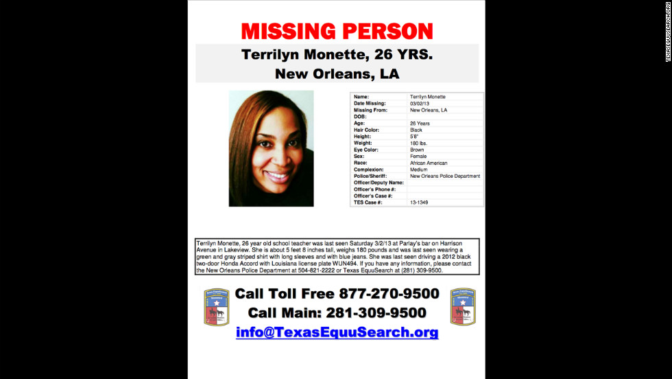This poster of Monette was released to help find her.