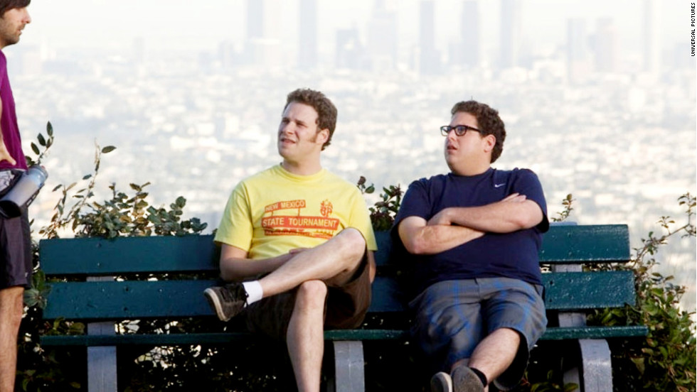 "For obvious reasons, Jonah Hill, right, was referred to as Seth Rogen's Mini-Me when he first came on the scene. Since 2005, the pair have appeared together in four projects: ""The 40 Year Old Virigin,"" ""Knocked Up,"" ""Superbad"" and ""Funny People."" They'll next show up in ""This Is the End,"" which Rogen co-wrote and co-directed. The comedy is expected to hit theaters in June."