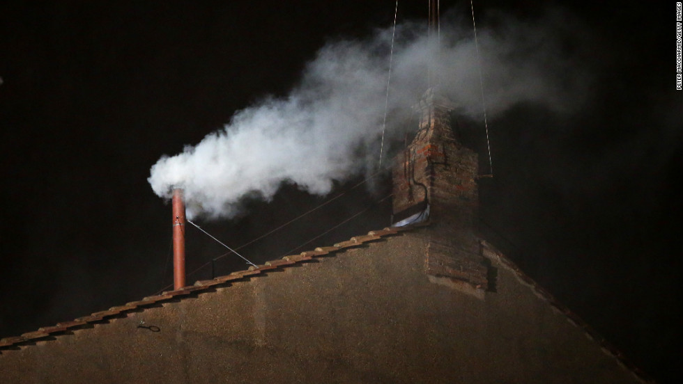 White smoke billowing from the Sistine Chapel signals a new pope has been chosen on Wednesday, March 13. The 115 cardinal-electors, meeting in strict secrecy, needed to reach a two-thirds plus one vote to elect the 266th pontiff.