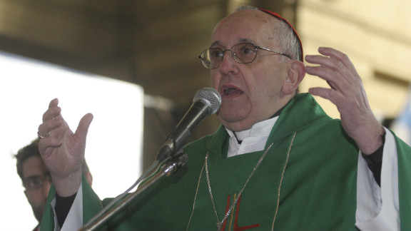 During a Mass against trafficking in July 12, 2010, in Buenos Aires, Bergoglio speaks.