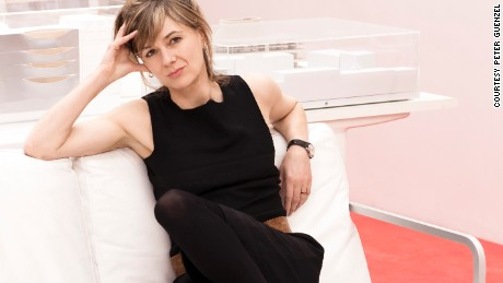 Architect Amanda Levete at her offices in London