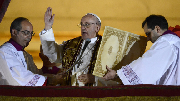 Pope Francis addresses the crowd. He was the archbishop of Buenos Aires.