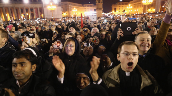 People react to the newly elected pope