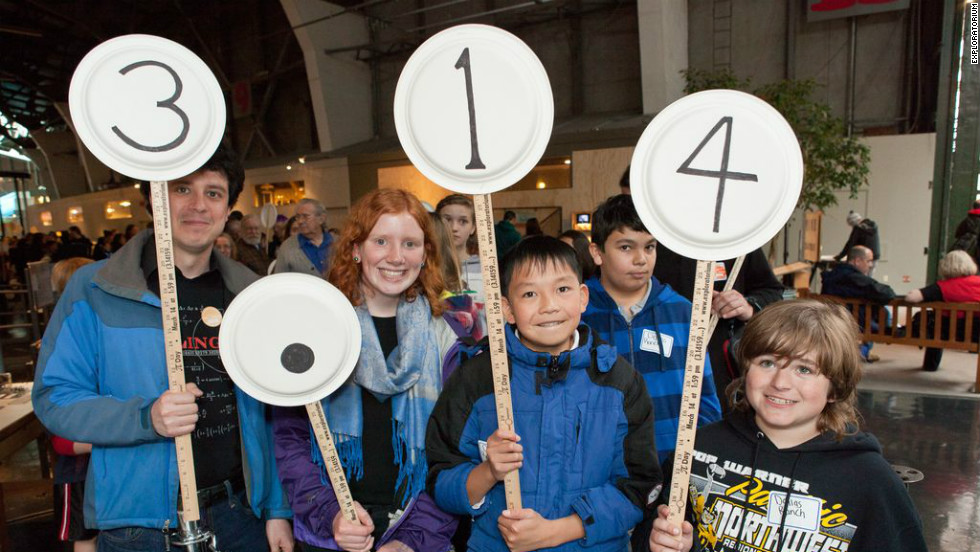"The <a href=""http://www.exploratorium.edu/"" target=""_blank"">Exploratorium in San Francisco</a> hosts an annual parade on Pi Day, where fans of the number make handmade number signs and march in order of pi's digits (3.14 ... )."