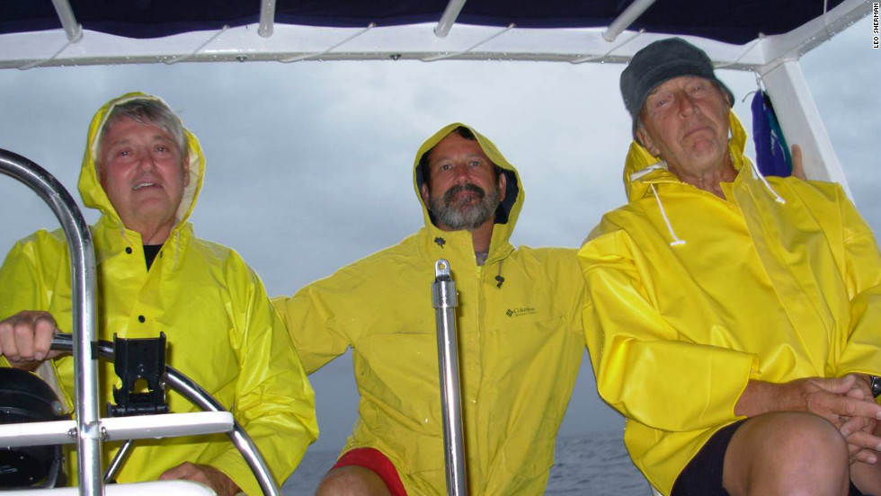 Cultra, left, recruited friends Leo Sherman, center, and Joe Strykowski to set sail for an around-the-world journey.