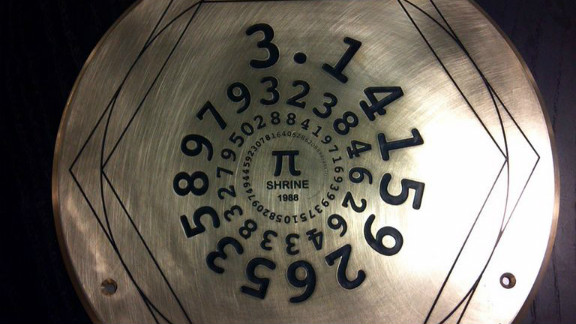 """The Exploratorium is installing this """"pi shrine"""" on the sidewalk in front of its new location in San Francisco on Pi Day 2013."""