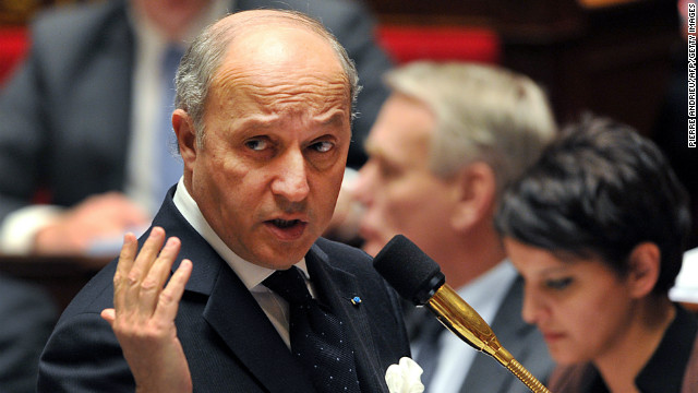 French Minister of Foreign Affairs Laurent Fabius addresses members of parliament during a weekly session of questions to the government on March 12, 2013 at the National Assembly in Paris.