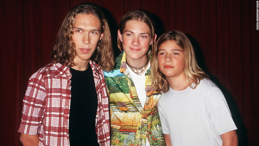 "Isaac, Taylor and Zac Hanson achieved heartthrob status shortly after releasing ""MMMBop,"" the first single off their 1997 album ""Middle of Nowhere."""
