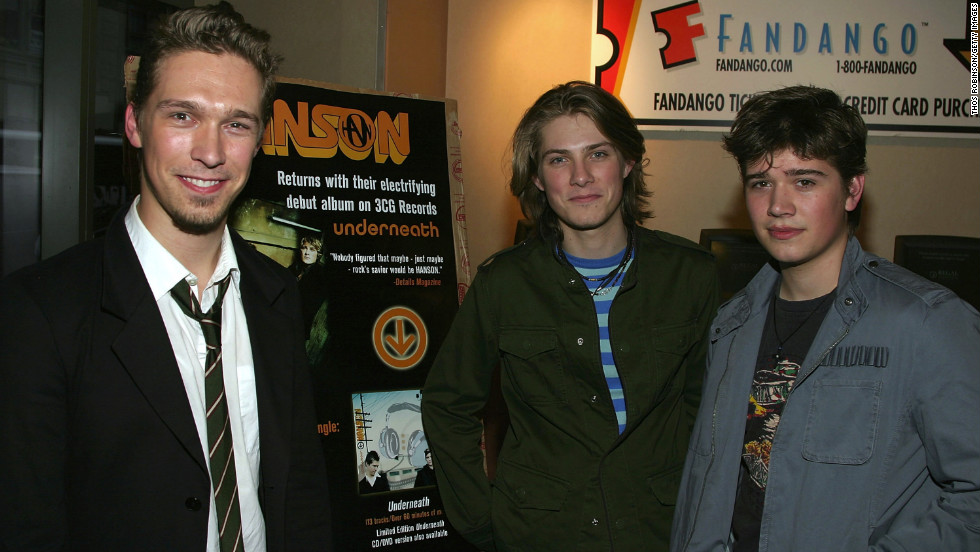 "Isaac, Taylor and Zac Hanson attend a screening of their 2004 film ""Underneath Acoustic Live"" in New York City."