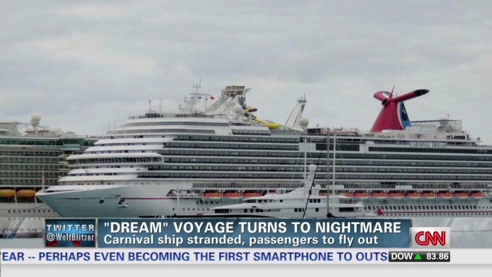 Carnival To Fly Passengers Home After Another Cruise Failure CNN - Cruise ship turns over