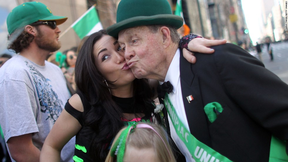 """Kiss me, I'm Irish"" is a phrase many St. Patrick's Day revelers use on the holiday. But Irish people have <a href=""http://www.digitalhistory.uh.edu/historyonline/irish_am_solidarity.cfm"" target=""_blank"">not always had such a loving reception in this country</a>. When Catholic Irish fled the famine in their country in the mid-1800s and came to the U.S., they were seen by some as poor, uneducated drains on the economy who had the wrong religion. But Catholic Irish immigrants soon became a powerful social group in urban centers, and <a href=""http://www.thejournal.ie/readme/is-the-irish-american-vote-still-important-662013-Nov2012/"" target=""_blank"">politicians often sought the support</a> of the ""Green machine."""
