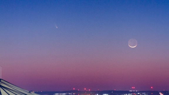 Wes Little, a CNN producer, shot this photo of Pan-STARRS from the CNN Center roof in Atlanta.