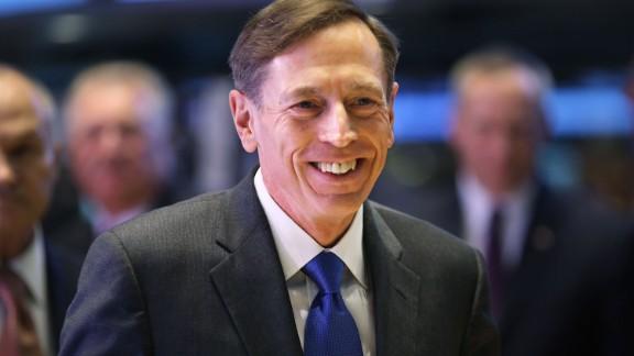 Former director of the Central Intelligence Agency, David Petraeus.