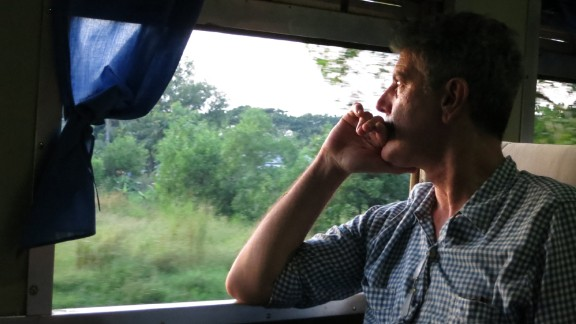 Tony on the train to Bagan.  PHOTO BY JOSH FERRELL
