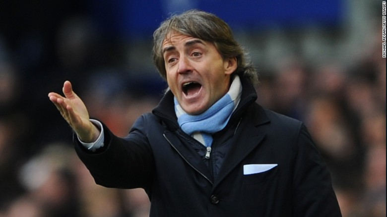 Roberto Mancini: 'Pellegrini was really lucky'