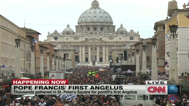 Pope Francis delivers first Angelus