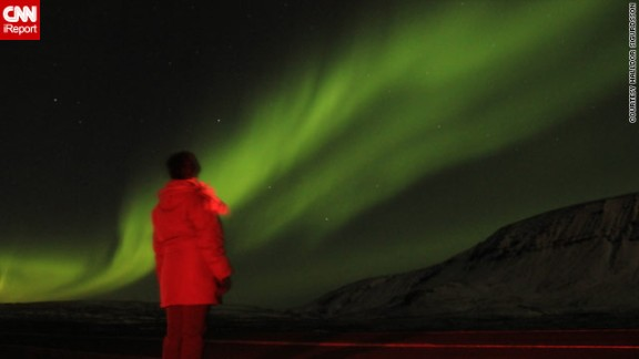 """Halldor Sigurdsson drove a couple miles outside the capital, Reykjavik, to <a href=""""http://ireport.cnn.com/docs/DOC-943161"""">get the best shots</a>."""